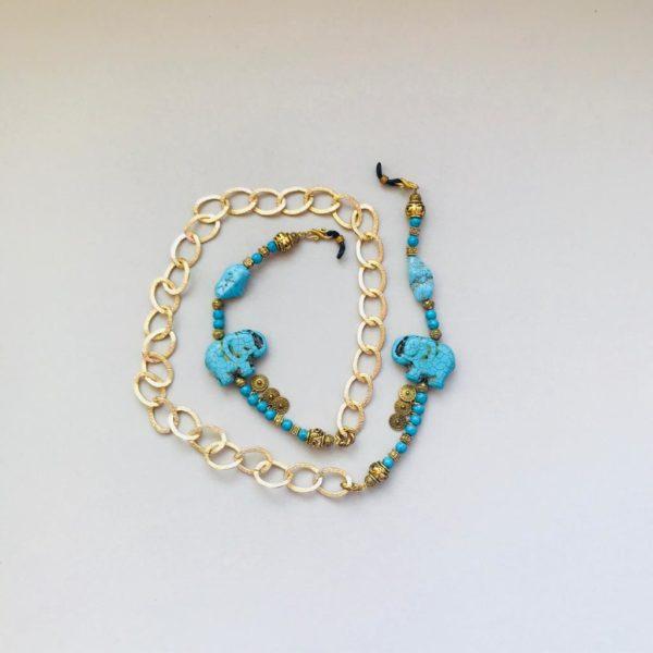Blue Elephant - Glasses Chain By Fazeena