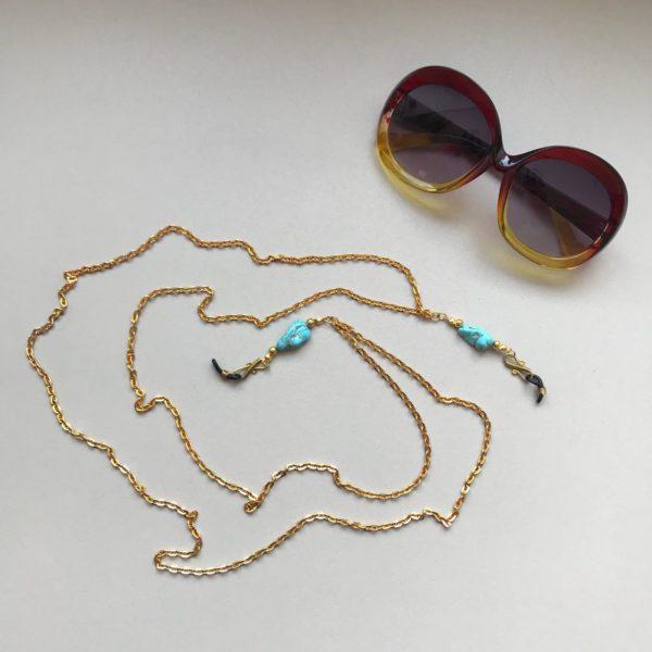 Double Turquoise- Glasses Chain By Fazeena
