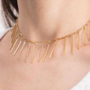 Pharaoh's Spikes – Gold – Choker