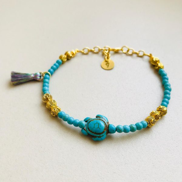 Blue Turtle - Anklet By Fazeena