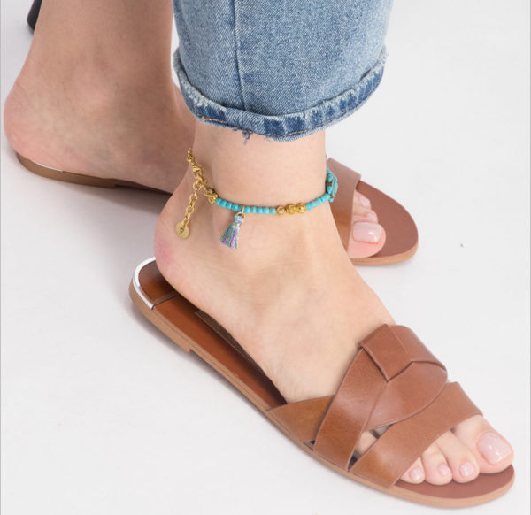 Blue Turtle anklet by Fazeena