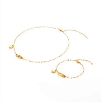 Golden love - bracelet and choker set by Fazeena