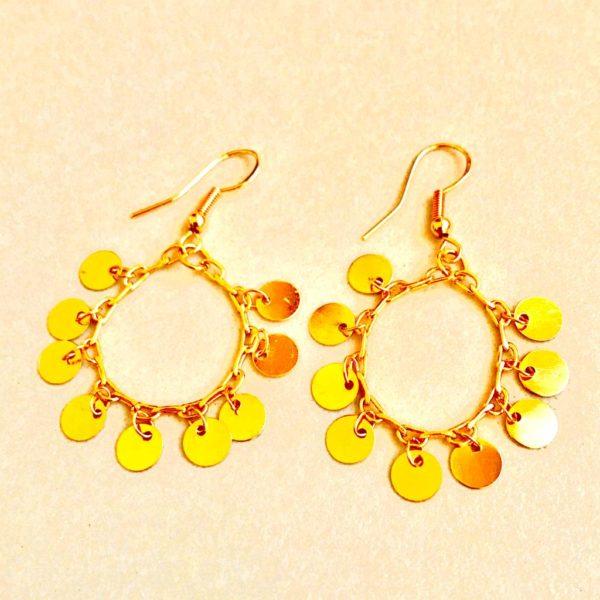 Golden Coins - Earrings By Fazeena
