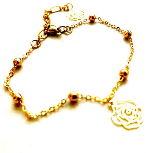 Golden Flower - Anklet by Fazeena