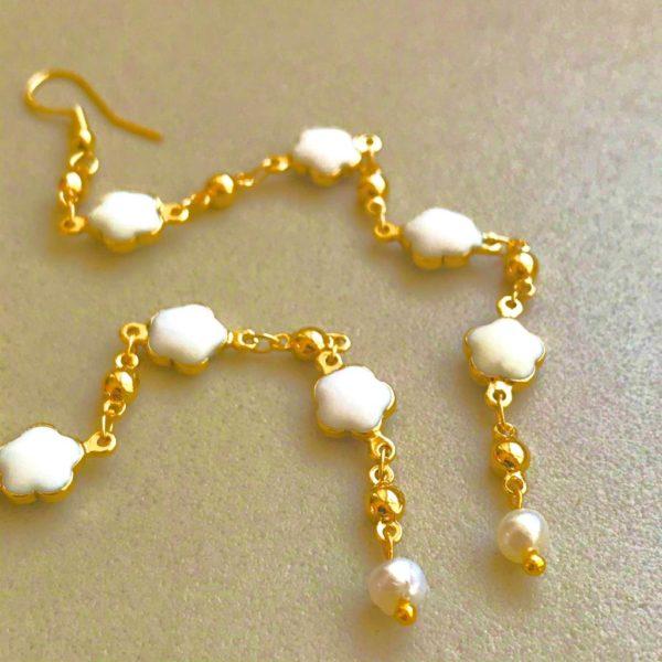 White Diamonds - Earrings By Fazeena