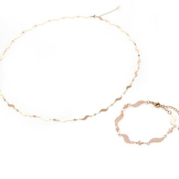 Waves - Belly Chain & Bracelet Set By Fazeena