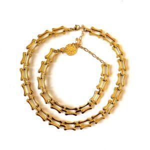 Gold – Choker & Bracelet Set